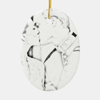 Beso y de Kate Ornamente De Reyes