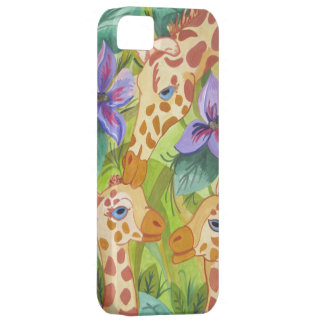 Besos africanos de la jirafa (arte de Kimberly iPhone 5 Carcasa