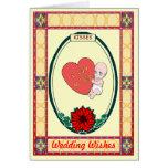 Besos - amor del bebé tarjeta de felicitación