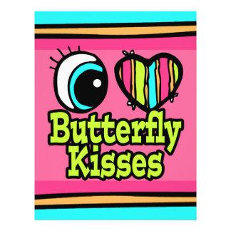 """Besos brillantes de la mariposa del amor del coraz folleto 8.5"""" x 11"""""""