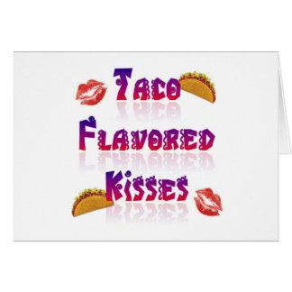 Besos condimentados Taco Tarjeta De Felicitación