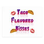 Besos condimentados Taco Tarjetas Postales