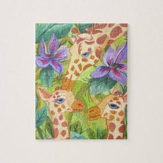 Besos de la jirafa (arte de Kimberly Turnbull) Puzzle