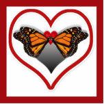Besos de la mariposa escultura fotografica