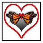 Besos de la mariposa esculturas fotográficas