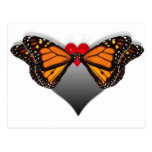 Besos de la mariposa postales