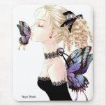 Besos de la mariposa tapete de ratones