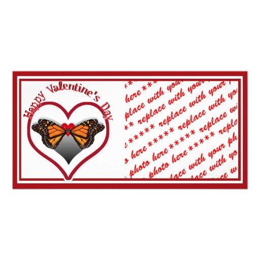 Besos de la mariposa tarjeta con foto personalizada