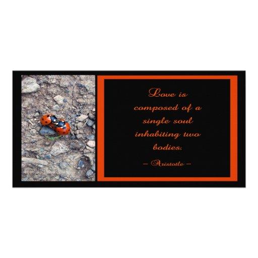 Besos de la mariquita tarjeta personal con foto