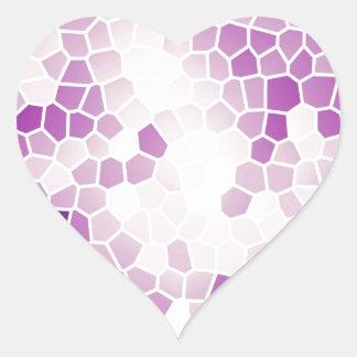Besos de la uva calcomanía de corazón personalizadas