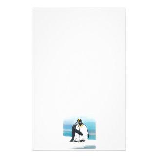 Besos del amor del pingüino papeleria personalizada
