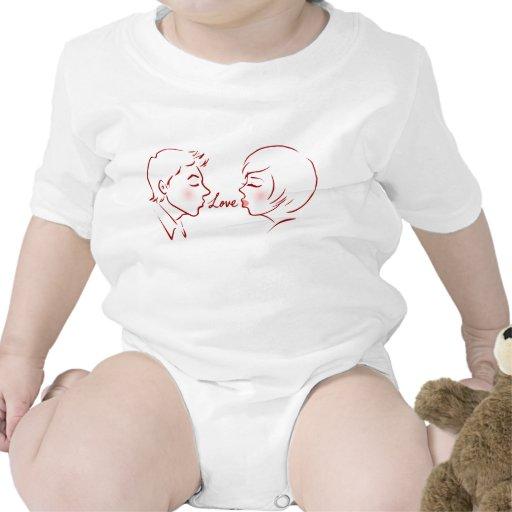 Besos del amor trajes de bebé