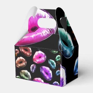 Besos del arco iris caja para regalos de fiestas