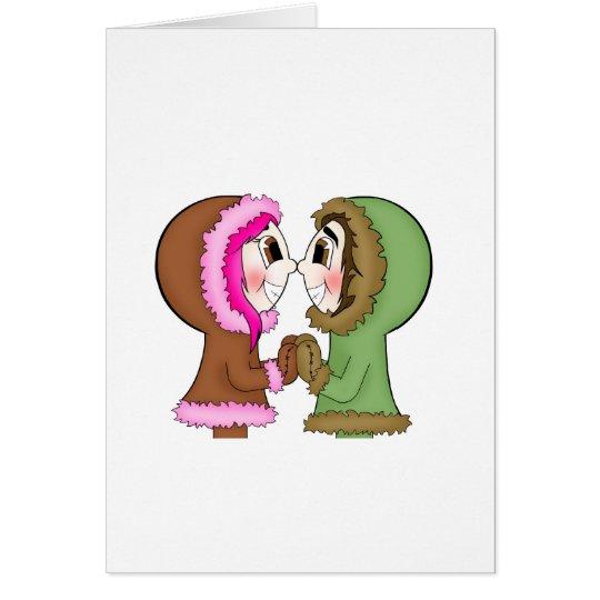besos del esquimal tarjeta de felicitación