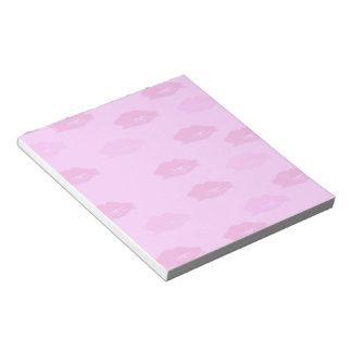 Besos del rosa bloc de notas