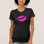 Besos del rosa camiseta
