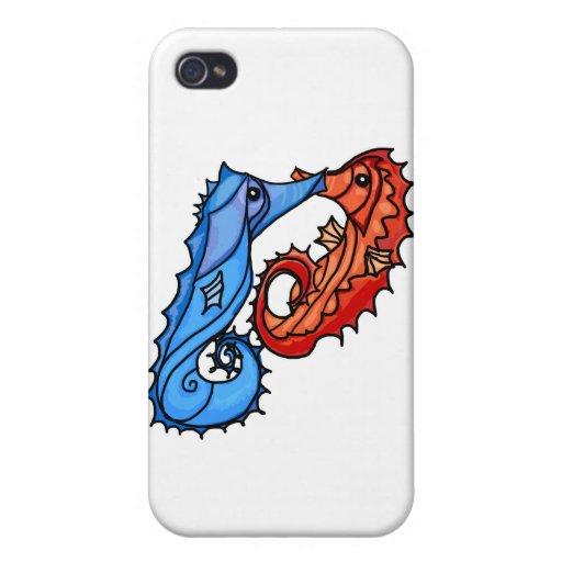Besos del Seahorse iPhone 4 Cobertura