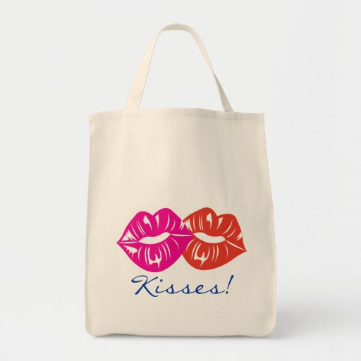 besos dulces bolsa tela para la compra