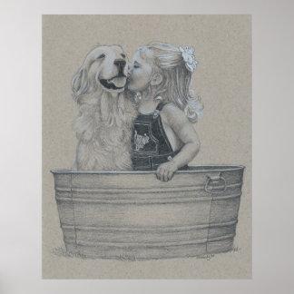 Besos en una tina poster