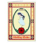Besos - novia tarjeta de felicitación