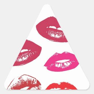 Besos Pegatina Triangular