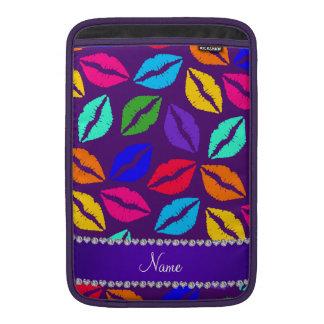 Besos púrpuras conocidos personalizados del lápiz fundas MacBook