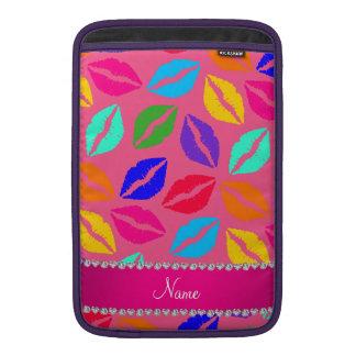 Besos rosados conocidos personalizados del lápiz funda para macbook air