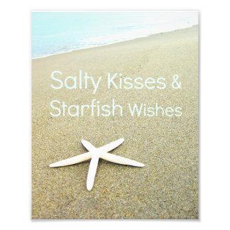 Besos y deseos salados de las estrellas de mar cojinete