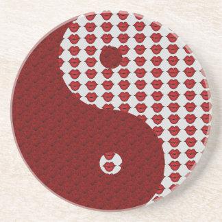 Besos y labios Yin Yang Posavasos Personalizados