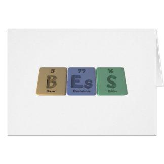 Bess as Boron Einsteinium Sulfur Card