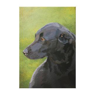 Bess - Labrador negro Impresión En Lienzo