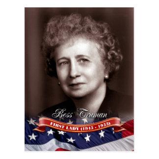 Bess Truman, primera señora de los E.E.U.U. Tarjeta Postal