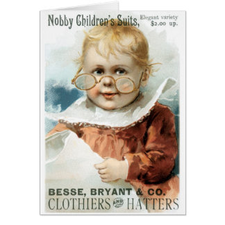 Besse Bryant and Co Clothiers and Hatters Card