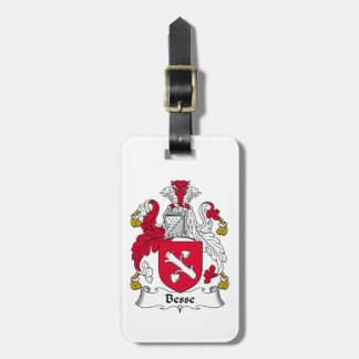 Besse Family Crest Travel Bag Tag