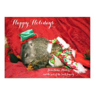 Bessie and Bluster Holiday Invitation/Photocard Card