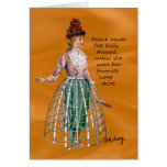 Bessie and Her Hoop Skirt Card