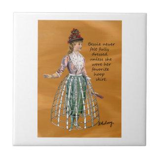 Bessie and Her Hoop Skirt Digital Collage Tile