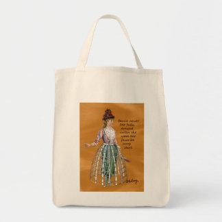Bessie and Her Hoop Skirt Digital Collage Tote Bag
