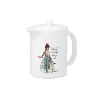 Bessie and Her Hoop Skirt Teapot