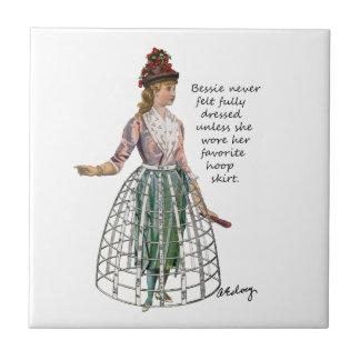 Bessie and Her Hoop Skirt Tile