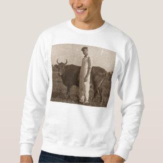 Bessie el granjero del vintage de la vaca sudaderas encapuchadas