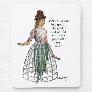 Bessie y su falda Mousepad del aro