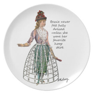 Bessie y su placa de la falda del aro plato de cena