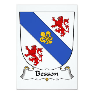Besson Family Crest Card