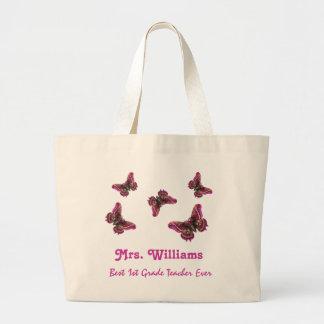 Best 1st Grade Teacher Ever Custom Name Gift Large Tote Bag