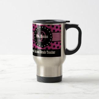 Best 2nd GRADE TEACHER Monogram Pink Patterns V02 Travel Mug