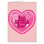 Best ABUELA Ever Greeting Card
