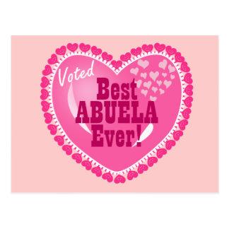 Best ABUELA Ever Postcard