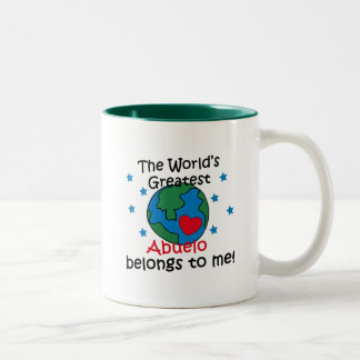 Best Abuelo Belongs to me Two-Tone Coffee Mug