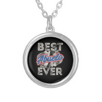 Best Abuelo Ever Puerto Rico Grandpa Fathers Day Silver Plated Necklace